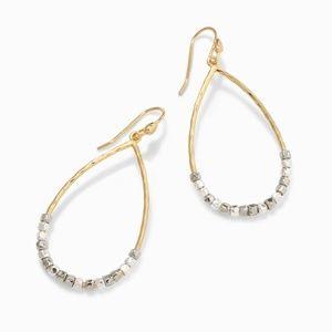 :: Stella & Dot Silver/Gold Rhett Hoops